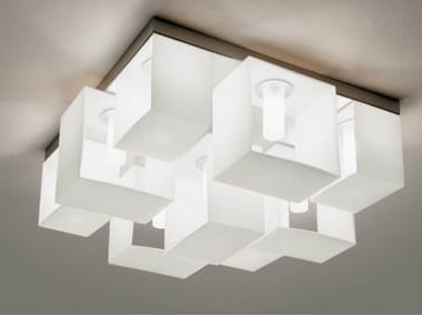 Blown glass ceiling lamp DOMINO | Ceiling lamp