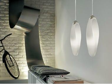 Blown glass pendant lamp TRACK   Pendant lamp