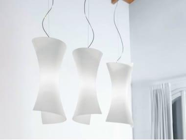 Blown glass pendant lamp TWISTER | Pendant lamp