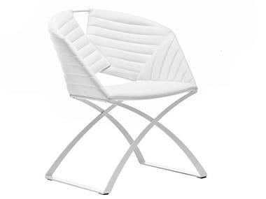 Gepolsterter Stuhl mit Kufengestell PORTOFINO | Stuhl mit Kufengestell