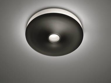 Fluorescent aluminium ceiling lamp LUNARPHASE