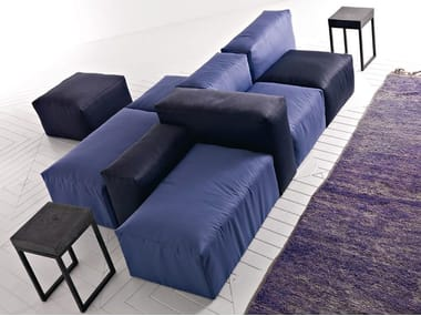 Sectional upholstered fabric sofa XXL