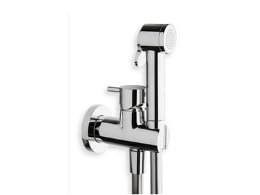 Wall-mounted bidet mixer with spray TRICOLORE VERDE | Bidet mixer with spray