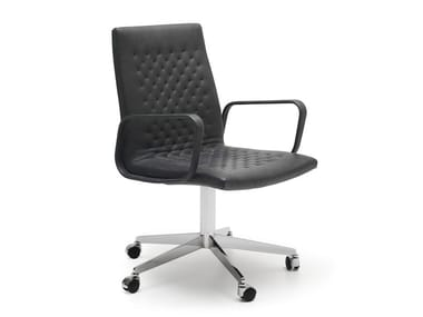 Task chair with armrests DS-1051 | Task chair with 5-Spoke base