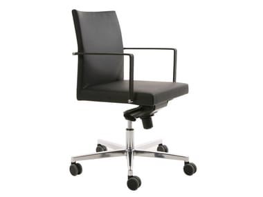 Height-adjustable office chair with 5-Spoke base with armrests FEEL | Office chair with 5-Spoke base