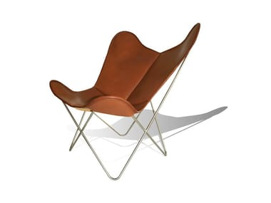 Leather armchair HARDOY BUTTERFLY CHAIR
