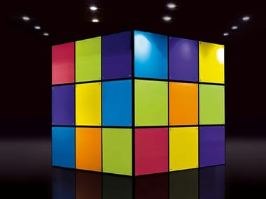 Tempered glass wall tiles CUBE