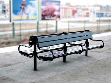 Steel Bench with armrests ROBUST