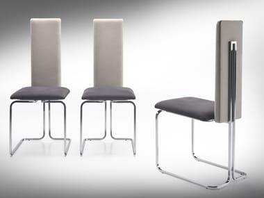 Upholstered high-back chair LINDA