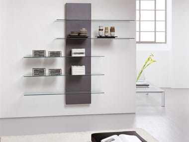 Sectional crystal bookcase with TV stand SLIDE