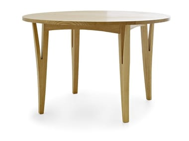 Round solid wood table MORAAR | Round table