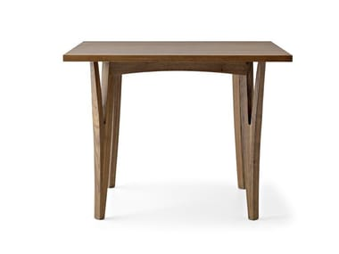 Square solid wood table MORAAR | Square table