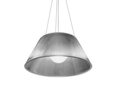 Glass pendant lamp ROMEO MOON S