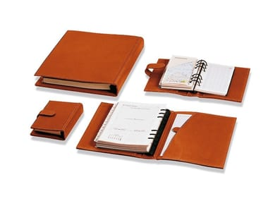 Tanned leather notebook VOLUMI