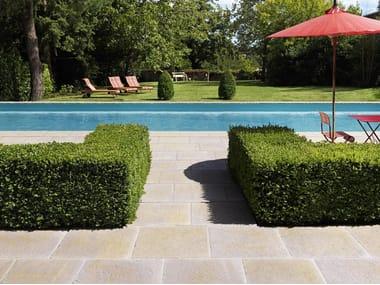 Reconstructed stone outdoor floor tiles ODALIS