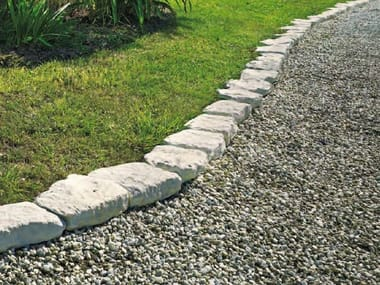 Natural stone lawn edging Lawn edging