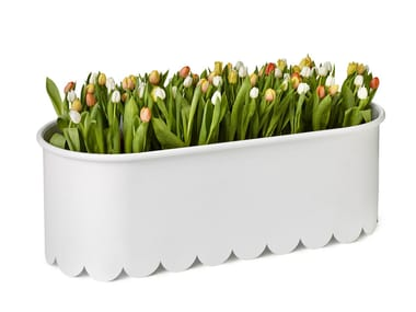 Powder coated steel planter DAISY
