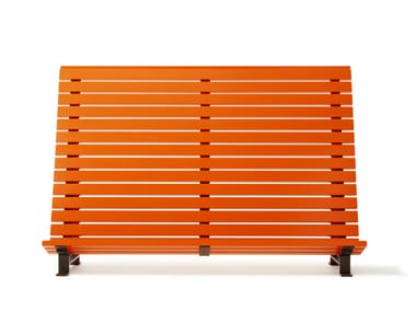 Steel and wood outdoor chair KAJEN PLANKA
