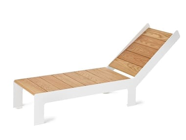 Steel and wood garden daybed LOWBED