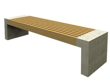 Backless concrete bench seating PAXA