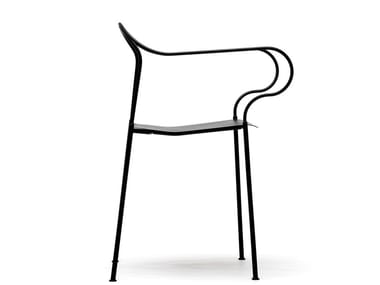 Steel Restaurant chair with armrests KYPARN | Chair with armrests