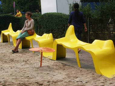 Backless plastic bench seating DIAGRAM