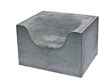 Nice Concrete Garden Armchair With Armrests CONCRETE THINGS