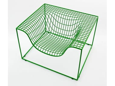 Steel armchair with armrests GRID