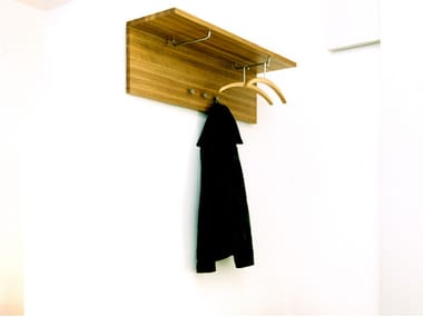 Wall-mounted wooden coat rack ARK | Coat rack