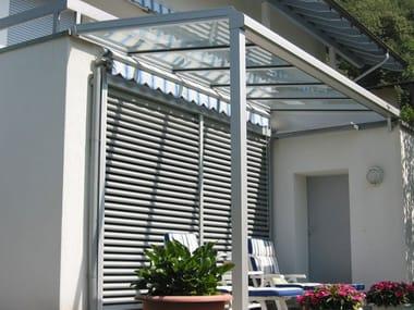 Glass and aluminium canopy TD 100