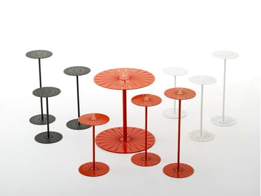 Round steel coffee table CAKE