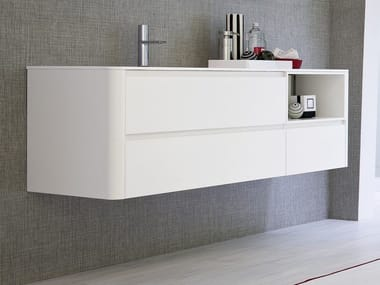Lacquered wall-mounted vanity unit COMP MSP01 | Vanity unit
