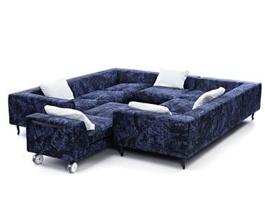 Sectional Dacron® sofa ZLIQ ISLAND