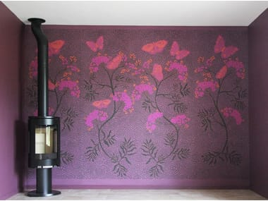 Design panoramic panoramic non-woven paper wallpaper BUTTERFLY