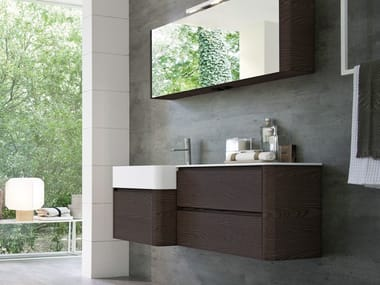 Single wall-mounted vanity unit COMP MSP02