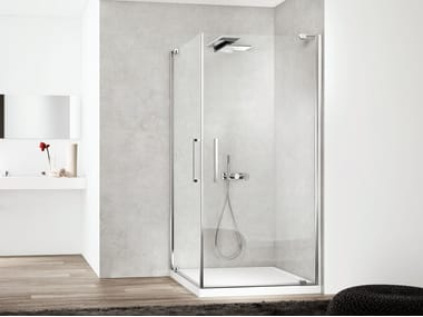 Corner glass shower cabin SLIM SLPOX2