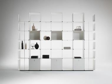 Open modular aluminium bookcase CWAVE