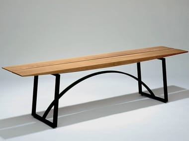 Steel and wood bench seating KWAI