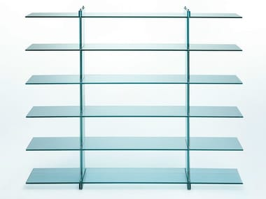 Float glass bookcase TESO | Bookcase