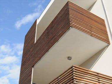 Wood panel for facade BRISE-SOLEIL