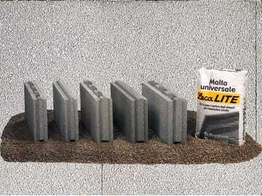 Lightweight concrete block for internal partition Tramezza Lecalite