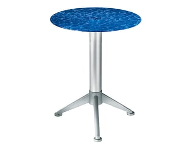 Round glass coffee table Glass coffee table