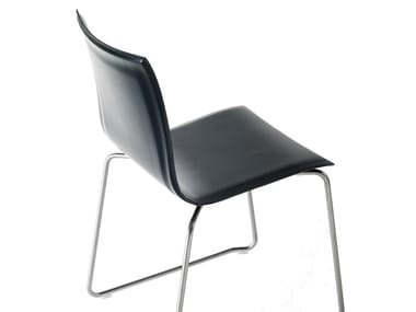 Sled base stackable chair THIN | Sled base chair