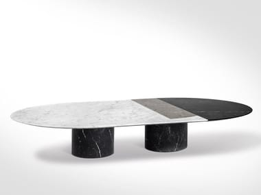 Oval marble coffee table PROIEZIONI | Oval coffee table