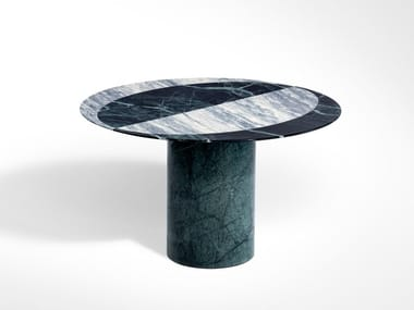 Round marble side table PROIEZIONI | Round coffee table