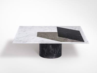 Square marble coffee table PROIEZIONI | Square coffee table
