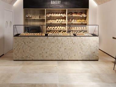 Glazed stoneware wall tiles / flooring stone effect PROVENCE CREAM