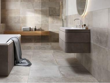 Glazed stoneware wall tiles / flooring stone effect PROVENCE LIGHT GREY