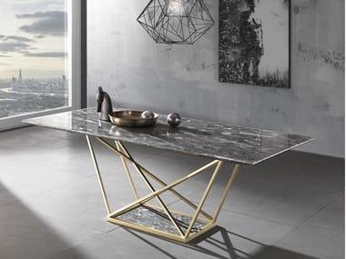 Rectangular natural stone table PRYSMA | Table