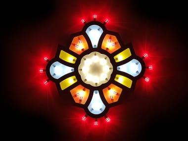 Lampada da parete a LED in legno PSICHE